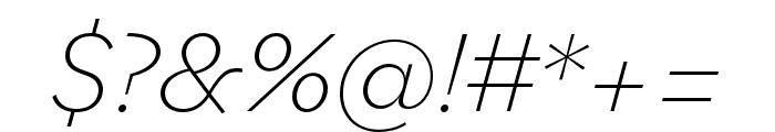 Bilo ExtraLight Italic Font OTHER CHARS
