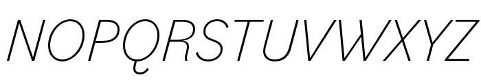 Bilo ExtraLight Italic Font UPPERCASE