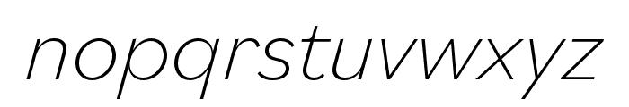 Bilo ExtraLight Italic Font LOWERCASE