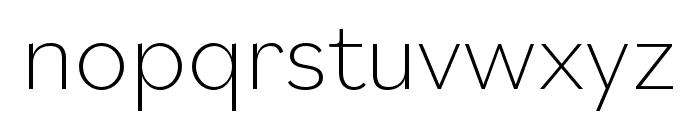 Bilo ExtraLight Font LOWERCASE