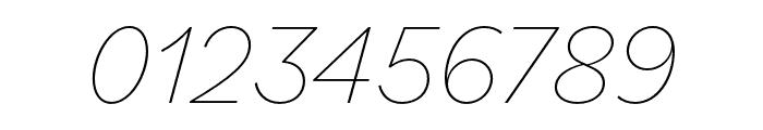 Bilo Thin Italic Font OTHER CHARS