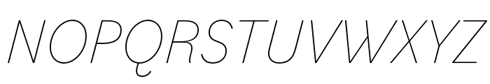 Bilo Thin Italic Font UPPERCASE