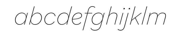 Bilo Thin Italic Font LOWERCASE
