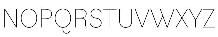 Bilo Thin Font UPPERCASE