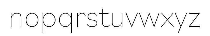 Bilo Thin Font LOWERCASE