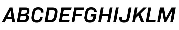 Bio Sans SemiBold Italic Font UPPERCASE