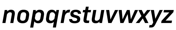 Bio Sans SemiBold Italic Font LOWERCASE