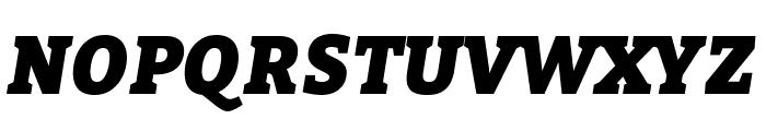 Bitter Black Italic Font UPPERCASE