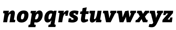 Bitter Black Italic Font LOWERCASE