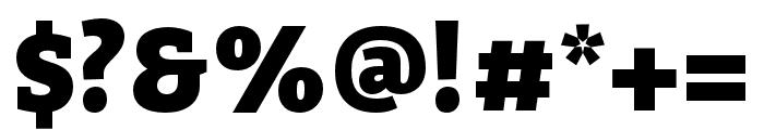 Bitter Black Font OTHER CHARS