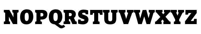 Bitter Black Font UPPERCASE