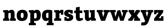 Bitter Black Font LOWERCASE