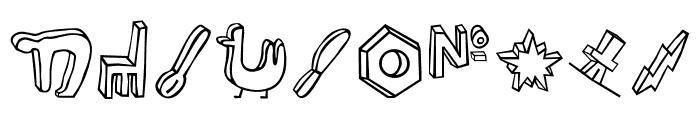 Blockhead Illust OT DarkSide Font OTHER CHARS