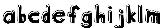 Blockhead OT DarkSide Font LOWERCASE