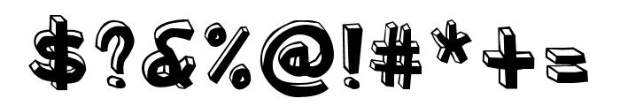 Blockhead OT Unplugged Font OTHER CHARS