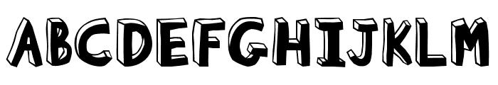 Blockhead OT Unplugged Font UPPERCASE