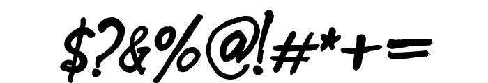 Blue Goblet Alternate One Bold Oblique Font OTHER CHARS