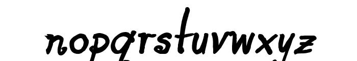 Blue Goblet Alternate One Bold Oblique Font LOWERCASE