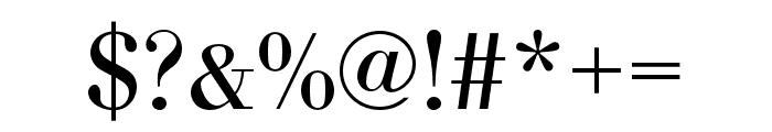 Bodoni URW Extra Narrow Regular Font OTHER CHARS