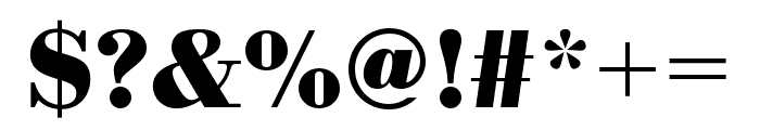 Bodoni URW Extra Wide Bold Font OTHER CHARS