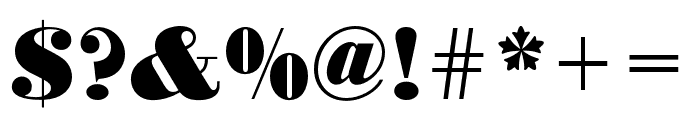 Bodoni URW Extra Wide Extra Bold Font OTHER CHARS