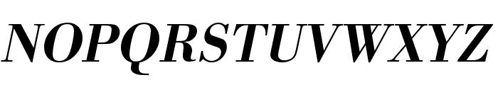 Bodoni URW Extra Wide Medium Oblique Font UPPERCASE