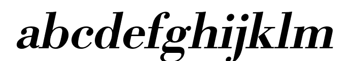 Bodoni URW Extra Wide Medium Oblique Font LOWERCASE