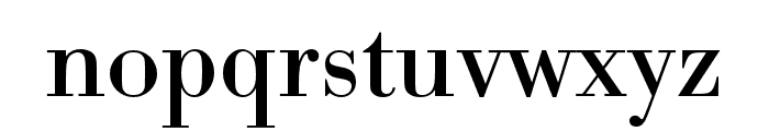 Bodoni URW Extra Wide Regular Font LOWERCASE