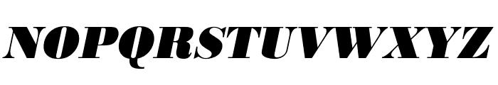 Bodoni URW Narrow Extra Bold Oblique Font UPPERCASE