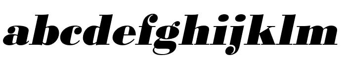 Bodoni URW Narrow Extra Bold Oblique Font LOWERCASE