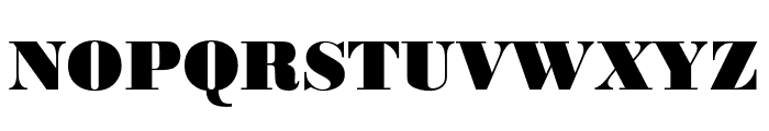 Bodoni URW Narrow Extra Bold Font UPPERCASE