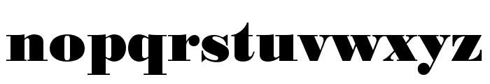 Bodoni URW Narrow Extra Bold Font LOWERCASE