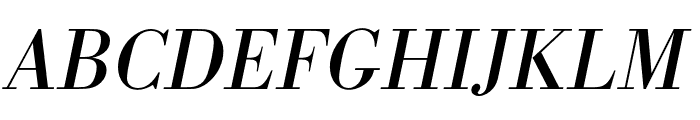 Bodoni URW Narrow Regular Oblique Font UPPERCASE