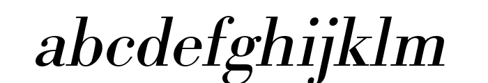 Bodoni URW Narrow Regular Oblique Font LOWERCASE