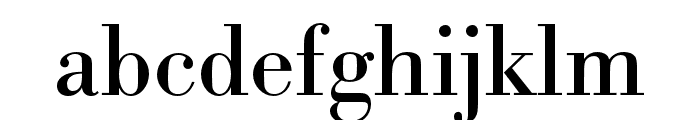 Bodoni URW Regular Font LOWERCASE