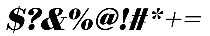 Bodoni URW Wide Bold Oblique Font OTHER CHARS