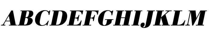 Bodoni URW Wide Bold Oblique Font UPPERCASE