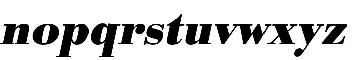 Bodoni URW Wide Bold Oblique Font LOWERCASE