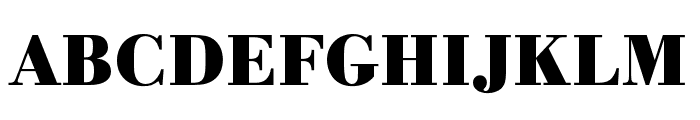 Bodoni URW Wide Bold Font UPPERCASE