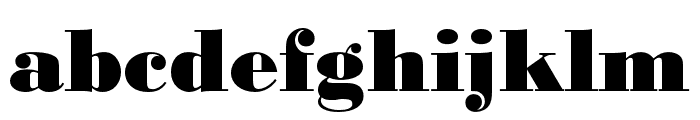 Bodoni URW Wide Extra Bold Font LOWERCASE