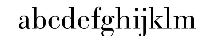Bodoni URW Wide Light Font LOWERCASE