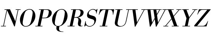 Bodoni URW Wide Regular Oblique Font UPPERCASE