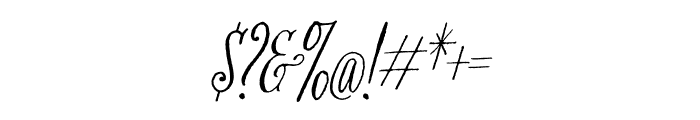 Bookeyed Nelson Regular Font OTHER CHARS