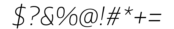 Boreal ExtraLight Italic Font OTHER CHARS