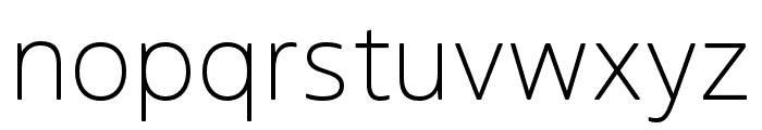 Boreal ExtraLight Font LOWERCASE