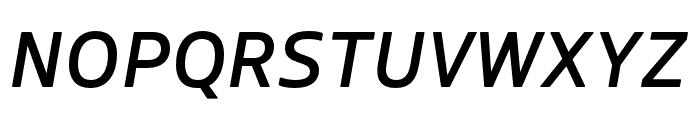 Boreal Medium Italic Font UPPERCASE
