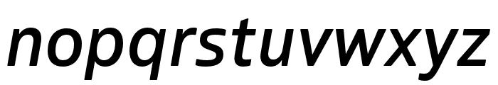 Boreal Medium Italic Font LOWERCASE