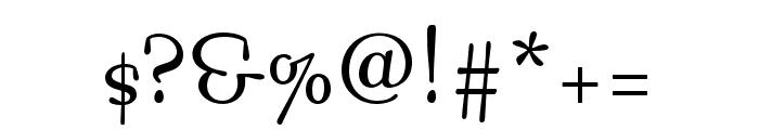 Bossa Nova MVB Regular Font OTHER CHARS