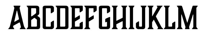 Boucherie Flared Regular Font UPPERCASE