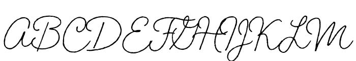 Braisetto Regular Font UPPERCASE